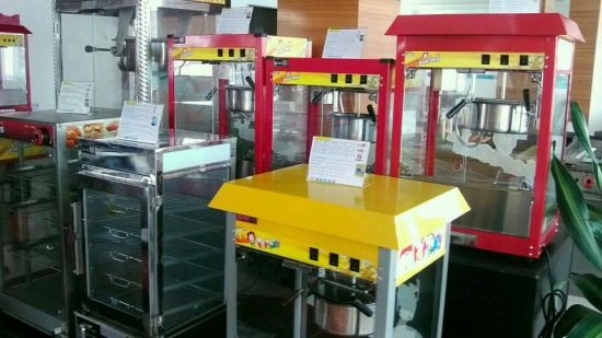 Cheap Commercial Ce Approved Electric Popcorn Making Machine with Cart pictures & photos
