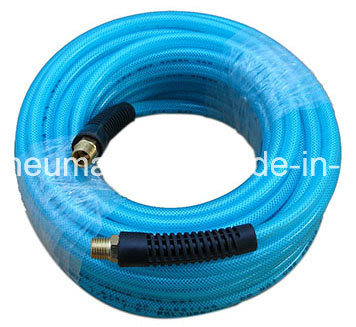 1/2'' Clear Blue PU Tube with NPT Coupling Both Ends for Air Systems