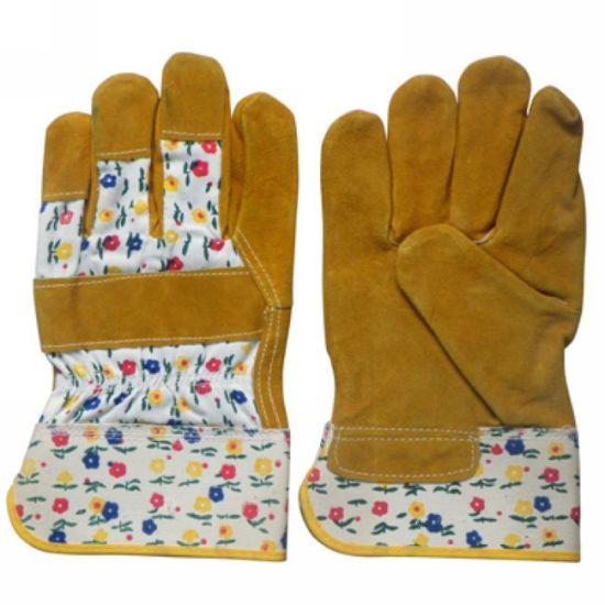 Cow Leather Working Labor Women Garden Glove (JMC-240I)