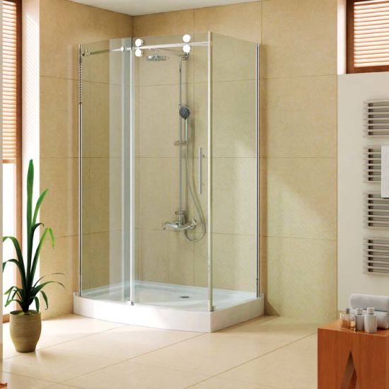 Cupc Approved Sliding Shower Door with Stainless Steel Hardware