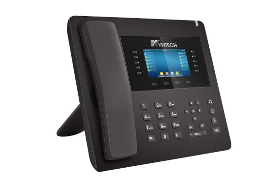 Media-Rich Enterprise IP Phone with Bluetooth, SMS, HD Voice Conference