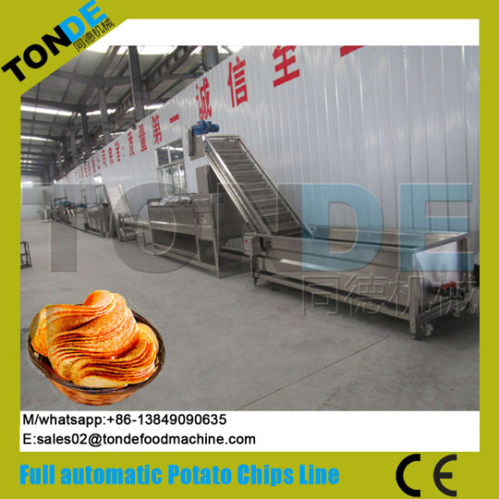 Commercial Frozen Fried Purple Sweet Potato Chips Processing Line pictures & photos