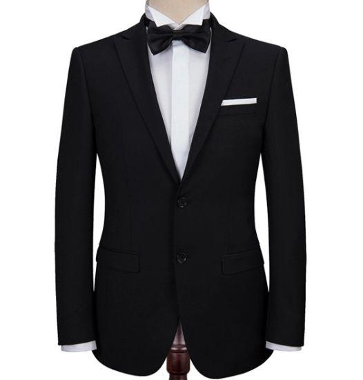 2 Buttons 3 PCS Man's Dark Wedding Suits Dress Suits