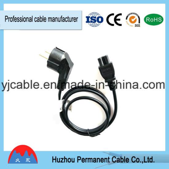 European 2-Pin Power Extension Cord Plug