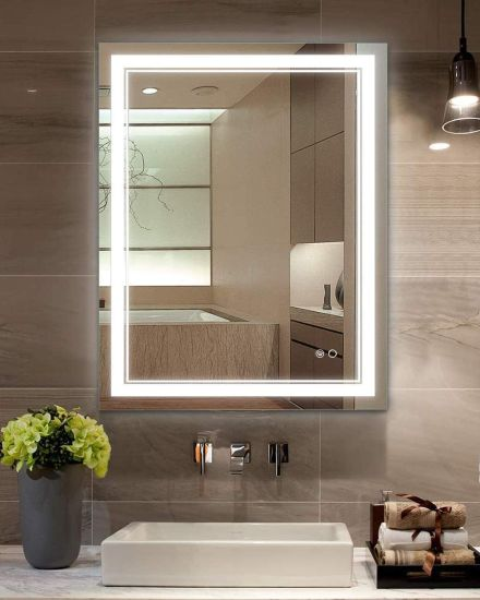 China Factory Led Bathroom Mirror, Luxury Makeup Mirror With Lights