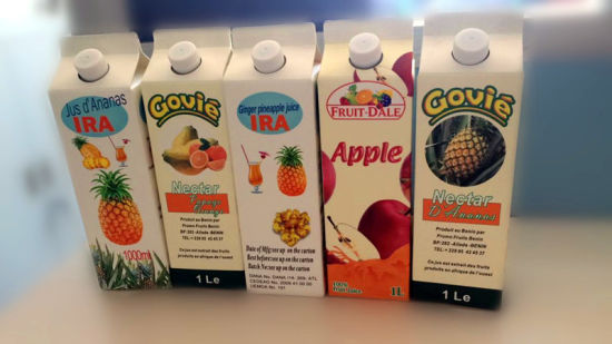 Fresh Juice Gable Top Carton with Caps pictures & photos