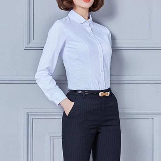 5a0a5e5c955 Custom Fashion Ladies Office Wear Women Formal Shirts Designs pictures    photos