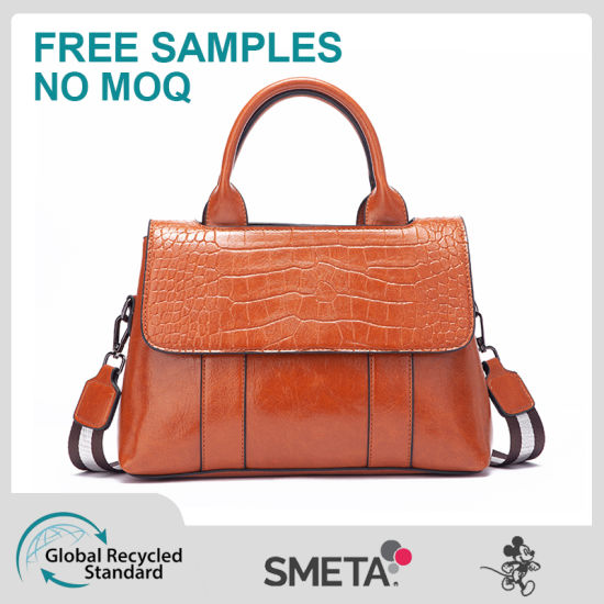 Crocodile-Print Cross-Body Bag with Large Capacity Handbag Lady Bag