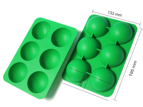 Custom Food Grade Ball Shape Flexible Silicone Ice Tray pictures & photos