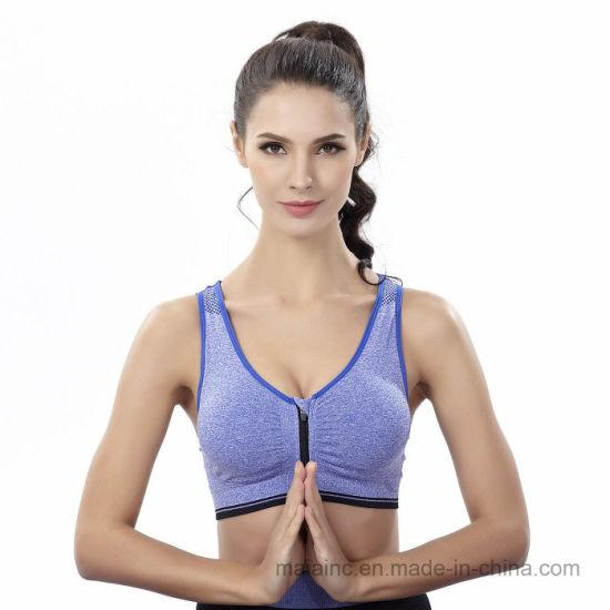 fbf195f73a China Front Zipper Comfortable Push up Sports Yoga Bra - China ...