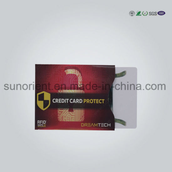Anti Scan Credit/ Business Card Shielding Sleeve Holder pictures & photos