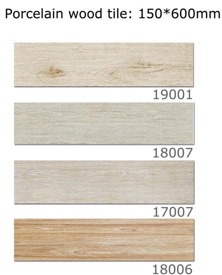 China Multi Size 3d Digital Inkjet Wood Finished Porcelain Floor