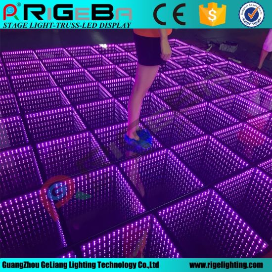 China 3D LED Mirror Stage Dance Floor Light - China LED Dance Floor ...
