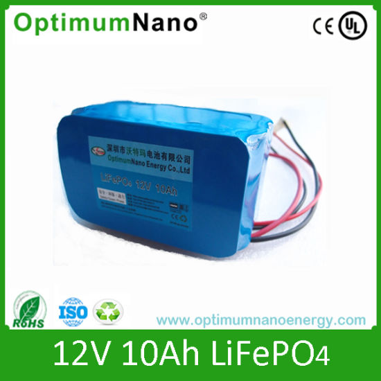 Rechargeable 12V 10ah LiFePO4 Battery Pack pictures & photos