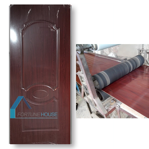HDF Board Moulded Red Wood Melamine Door Skin pictures & photos