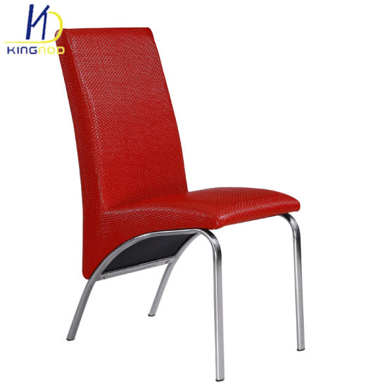 Pleasant China High Back L Shape White Leather Chrome Dining Chairs Gmtry Best Dining Table And Chair Ideas Images Gmtryco