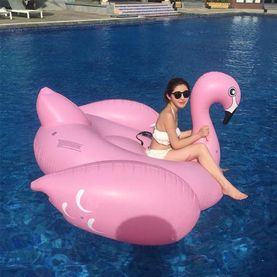 Giant Pink Flamingo Inflatable Pool Float Swim Ring