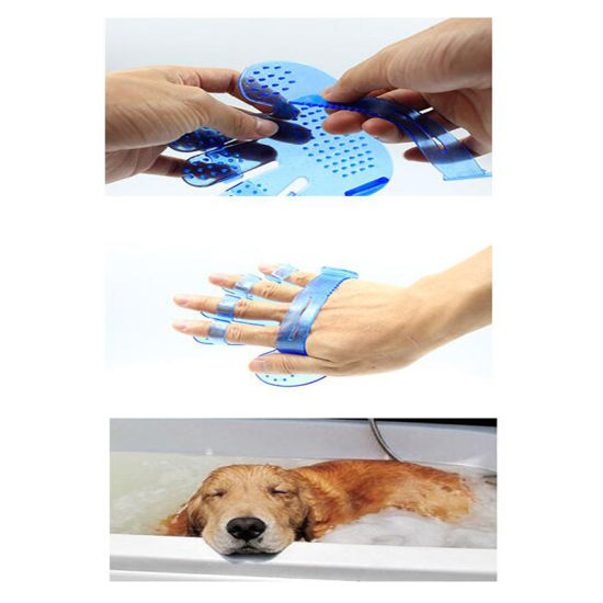 Dog Bath Brush Pet Glove Clean Brush Mitten pictures & photos