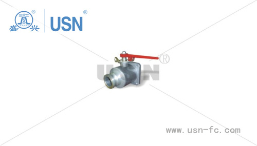 One-Way Square Ball Valve with Stainless Steel Ball Core pictures & photos
