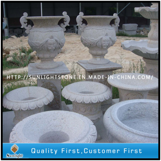 G682 Rusty Stone Granite Outdoor Flower Pot for Garden Landscape pictures & photos