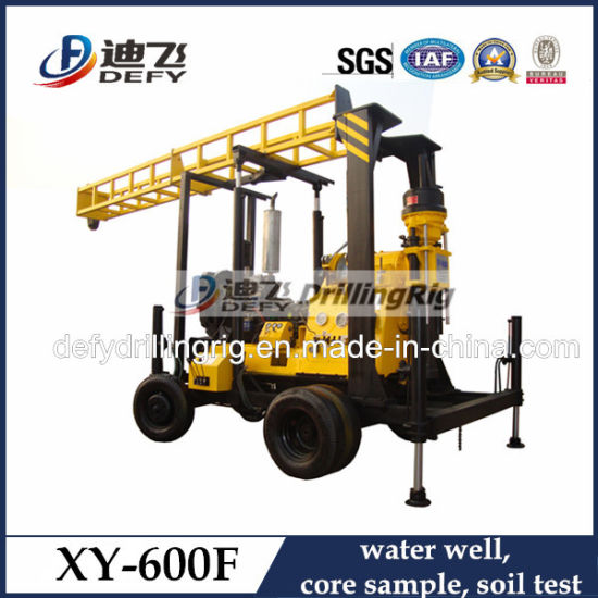 Xy-600f Trailer Mounted Portable Water Well Drilling Rigs for Sale