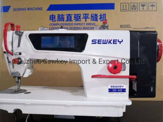 Ska8 Direct-Drive High Speed Computer Lockstitch Industrial Sewing Machine