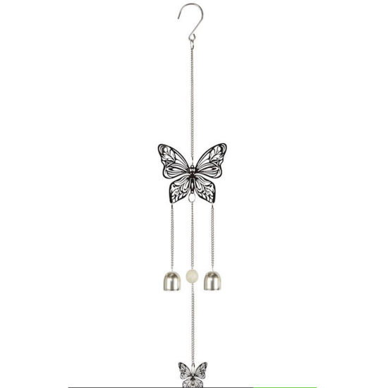 Home Decor Hanging Metal Decoration Butterfly Stainless Steel 3D Wind Spinner