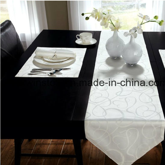 100%Polyester/Two Tone Polyester Solid Tablecloth with Chair Cover pictures & photos