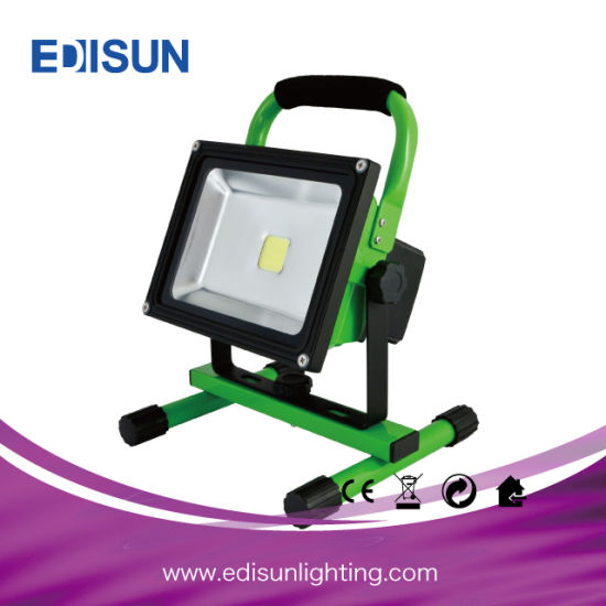 10W/20W/30W/50W/80W/100W IP65 Portable LED Rechargeable Floodlight for Camping pictures & photos