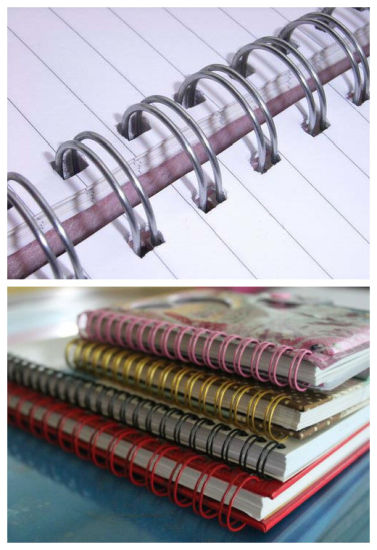 3: 1 and 2: 1pitch Double Loop Wire O Spiral Binding pictures & photos