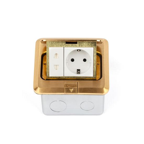 Brass Alloy Pop up Type Floor Socket Box Ce Certificate DCT-628/GB