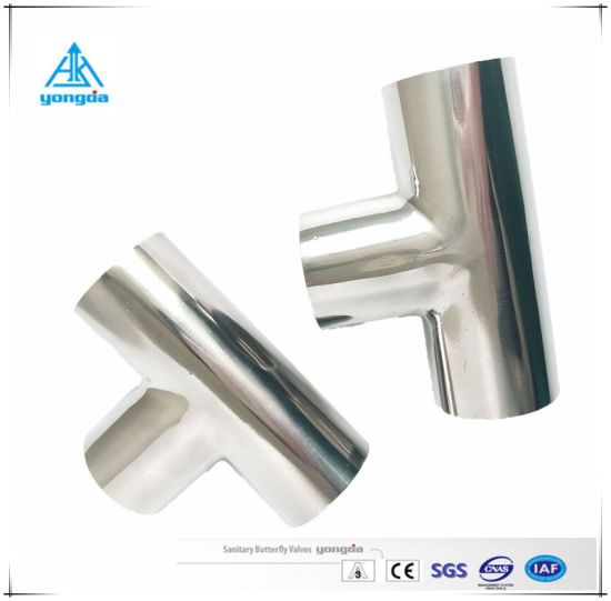 Sanitary Tube Stainless Steel Pipe Fitting Welded Type Equal Tee