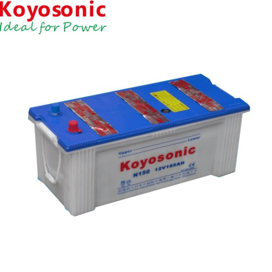 Truck Battery N150 12V 150ah Dry Charged Auto Car Battery