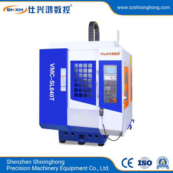 Vmc-SL640t High Speed Drilling and Tapping Machine for Metal Parts Hardware, 3c Products, Mold, Auto Parts, Telecom Device, Steel, Alloy Processing