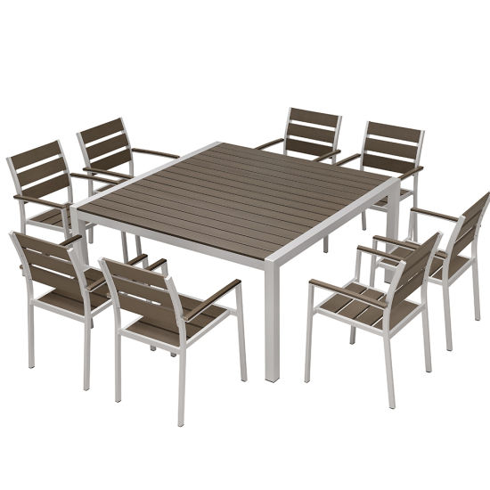 Patio Dining Room 8 Chairs Table
