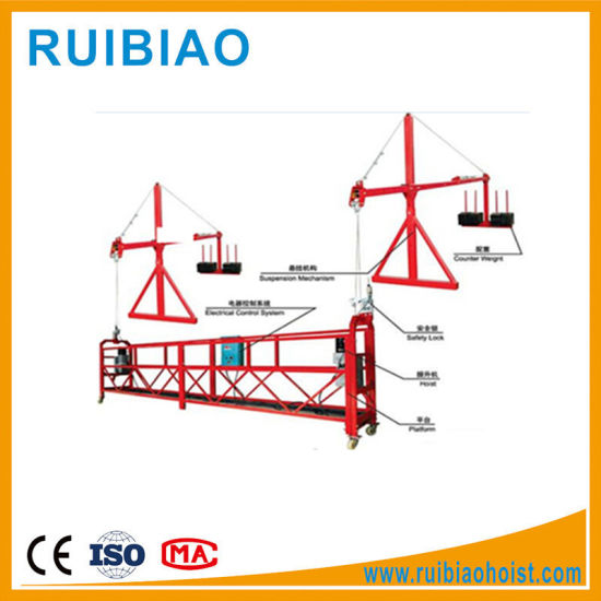 Building Construction Tools Zlp630 Gondola Cradle Lift for Painting