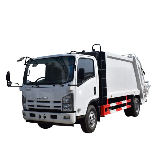 China Manufacturers 8 M3 Waste Collect Isuzu Rear Loaded Garbage Truck, Refuse Compactor Trucks, Garbage Truck, Garbage Refuse Compactor, Waste Collect Truck