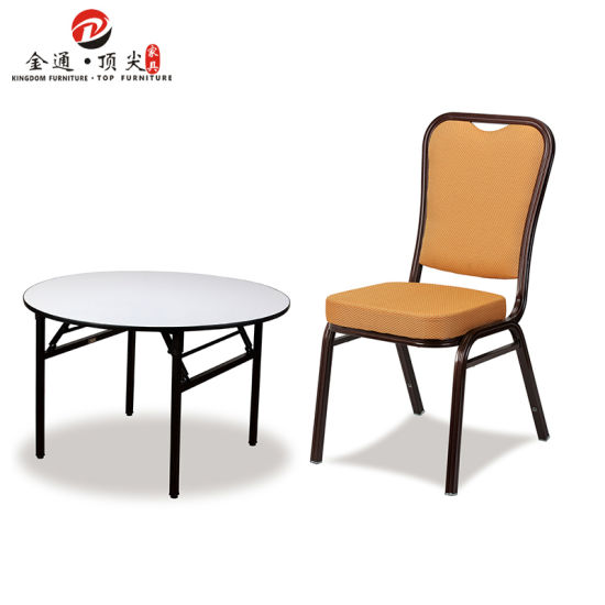 Hotel Furniture Buffet Wholesale Luxury Round Folding Wedding Event Banquet Table
