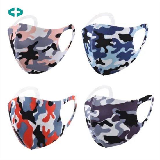 Spring Washable Reusable Fashion Cotton Facemasks Custom Cooling Ice Silk Party Face Masks with Logo Dust-Proof