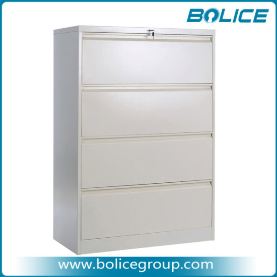 4 Drawers Office Lateral Steel Filing Cabinet pictures & photos