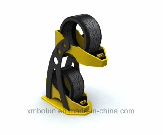 China Metal Tire Stand4040 Shelves Wheel Tyre Display Stand Display Classy Tire Display Stands