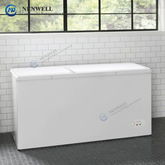 Commercial 1000 LTR Large Deep Freeze Food Storage Home Garage and Restaurant Chest Type Defrost (Frost Free) Freezers with Double Door Price for Sale