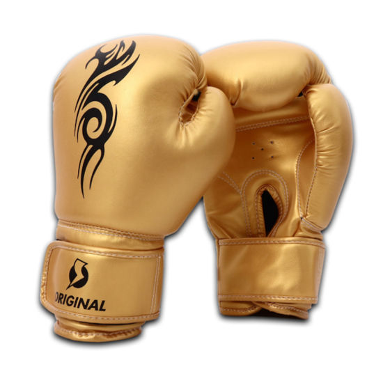 Adults/Kids/ Children's Sanda Fighting Boxing Gloves with PU Leather