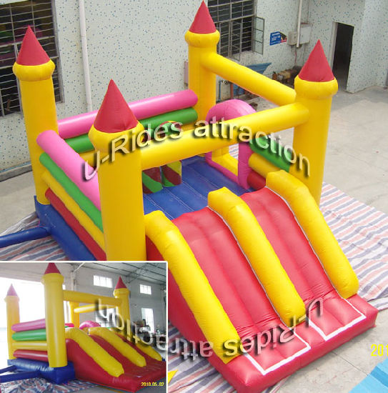 Hot sale inflatable toy inflatable bouncer jumping castle with slide for kids pictures & photos