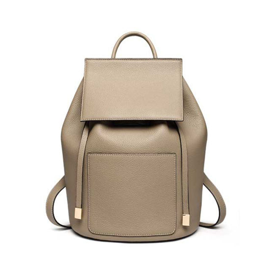 Genuine Leather Backpack Women Travel Bag