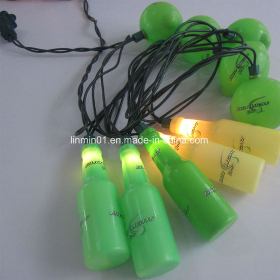 custom led string light with logo printing for home decoration