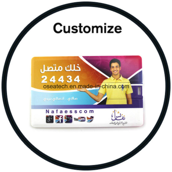 Logo Printed USB Flash Drive Credit Card pictures & photos
