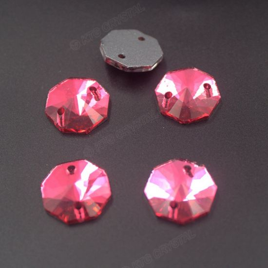 e4ca169d5 Octagon Shape 12mm Rose Color Sew on Stone Rhinestone Beads for Jewelry Making  Wedding Dress pictures