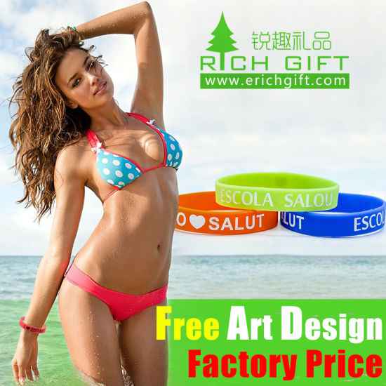 Fast Delivery Logo Engraved Custom Charming Silicone Bracelet for Sport pictures & photos