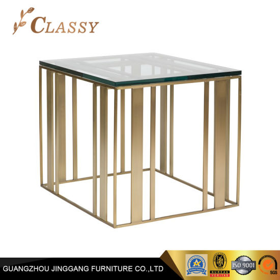 China Tempering Glass Top Stainless Steel Frame Dining Room ...